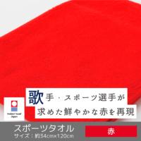 赤スポーツタオル〔今治タオルエール〕
