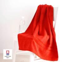 赤バスタオル〔今治タオルエール〕名入れ刺繍
