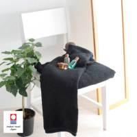 黒バスタオル〔今治タオルエール〕名入れ刺繍