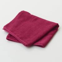 抗菌キトサンカラーフェイスタオル【エンジ】 名入れ刺繍