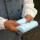 ハンカチタオル16cmサイズ【おなかま】名入れ刺繍