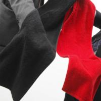 黒マフラースポーツタオル【今治タオルエール】 名入れ刺繍