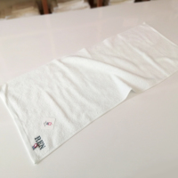 今治タオル〔ピュアホワイト〕フェイスタオル  名入れ刺繍