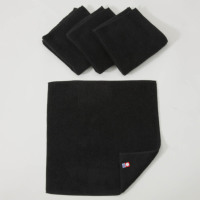黒ハンドタオル〔今治タオルエール〕名入れ刺繍