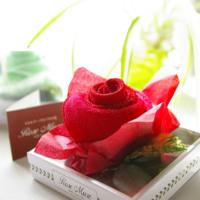 ロゼミュールバラタオル White&Red
